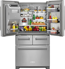 Load image into Gallery viewer, KitchenAid - 25.8 Cu. Ft. 5-Door French Door Refrigerator - Stainless steel