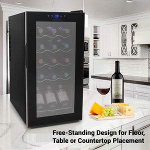 Counter Top Wine Cellar, Quiet Operation Fridge Touch Temperature Control