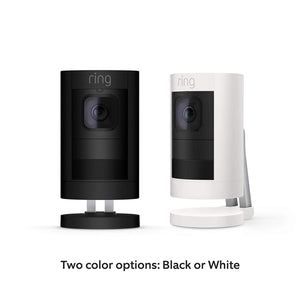 Ring Stick Up Cam Battery HD Security Camera with Two-Way Talk, Night White