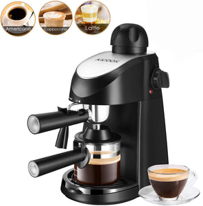 Aicook Espresso Machine, 3.5 Bar 4 Cup and Cappuccino Coffee Black