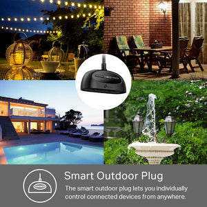 Kasa Smart WiFi Outdoor Plug by TP-Link– Outlets, Plug, Works with Alexa &...