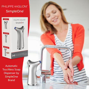 Simpleone Automatic Touchless Soap Dispenser New Improved Design – Silver