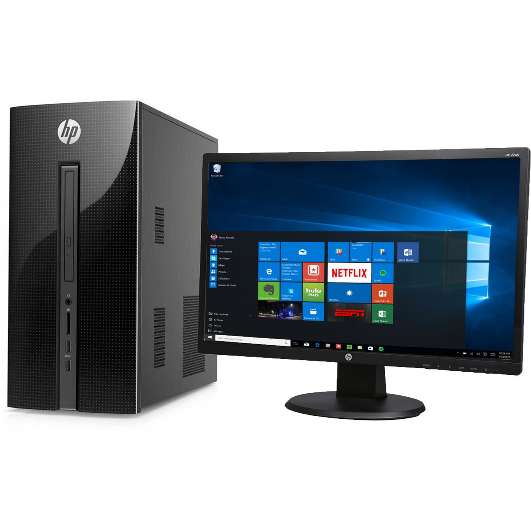 HP 251-A123WB Pentium J2900 Quad-Core 2.41GHz 4GB 1TB Mini-Tower & 21.5