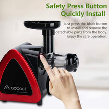 Load image into Gallery viewer, Aobosi Slow Masticating juicer Extractor, Cold Press Juicer Machine, Quiet...