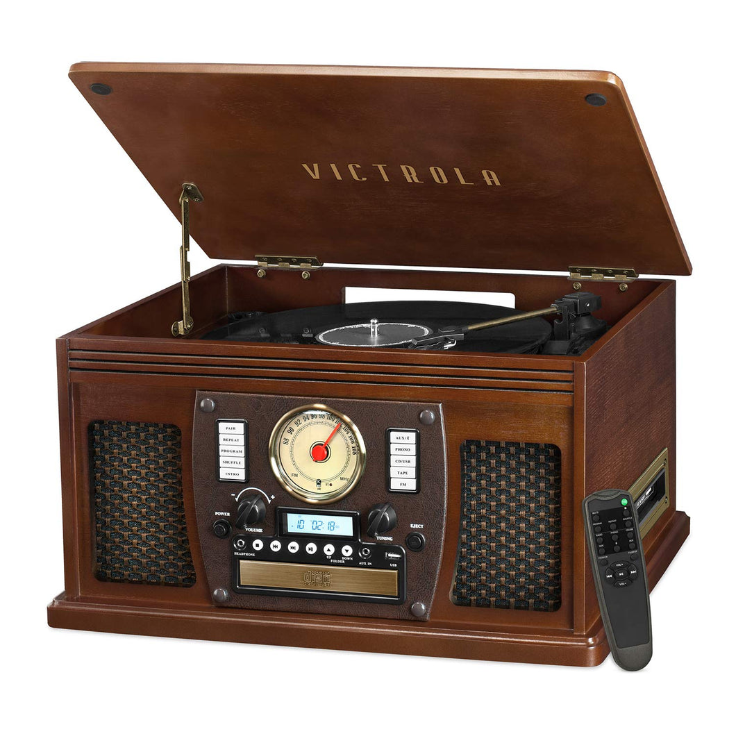 Victrola Navigator 8-In-1 Classic Bluetooth Record 1SFA, Brown (Espresso)