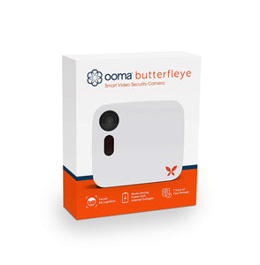 Ooma Butterfleye Smart Security Camera with Battery Backup, 7 White 1 Pack