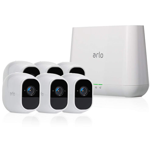Arlo Pro 2 - Wireless Home Security - 6 Camera System with Siren