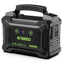 Load image into Gallery viewer, ENKEEO Portable Power Station 222W, Charger Camping CPAP Black
