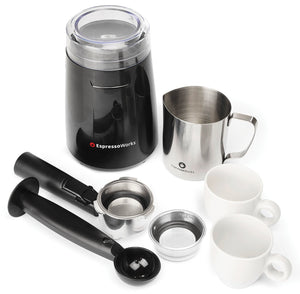 EspressoWorks 7 Pc All-In-One 9.75L x 11.5H x 9.0W, Black, Stainless Steel