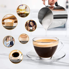 Load image into Gallery viewer, Aicook Espresso Machine, 3.5 Bar 4 Cup and Cappuccino Coffee Black