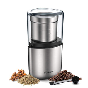 SHARDOR Electric Coffee Bean Grinder, Spice 1 CG715S, sliver