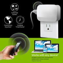Load image into Gallery viewer, GE Enbrighten Z-Wave Plus Smart Plug, 1 Grounded Outlet, On/Off Switch for...