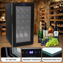 Load image into Gallery viewer, Counter Top Wine Cellar, Quiet Operation Fridge Touch Temperature Control