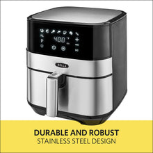 Load image into Gallery viewer, BELLA 14734 Touchscreen Convection Air 5.3 Quart, Stainless Steel 5.3QT