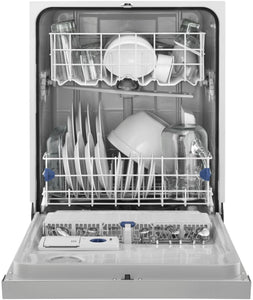 "Whirlpool - 24"" Tall Tub Built-In Dishwasher - Monochromatic Stainless Steel"