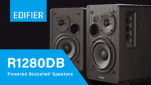 Load image into Gallery viewer, Edifier R1280DB Powered Bluetooth Bookshelf Speakers - Optical Wood Grain