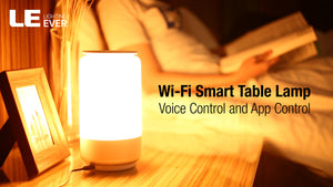 LE LampUX WiFi Smart Table Lamp Works with Alexa, Rgb and Tunable White