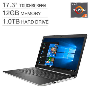 "HP 17.3"" Touchscreen Laptop - AMD Ryzen 5"