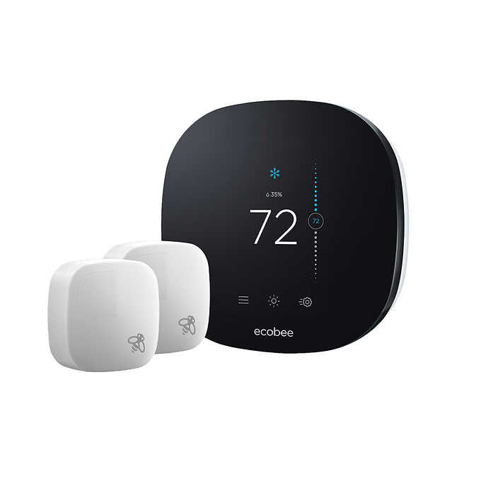 ecobee 3 Lite Smart Thermostat (2nd Gen) with 2 Room Sensors