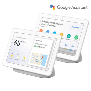 Google Home Hub Smart Display Powered by Assistant, Chalk, 2-pack
