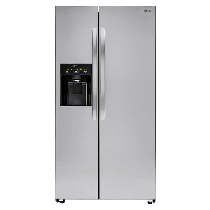 LG 26CuFt Ultra Capacity Side-By-Side Refrigerator with Smart Cooling...