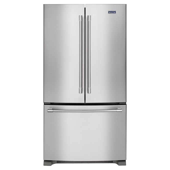 Maytag 25CuFt 36-inch Wide French Door Refrigerator in Fingerprint Resistant...