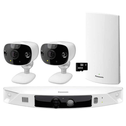 Panasonic HomeHawk Front Door + 2 Outdoor Home Monitoring Camera Kit