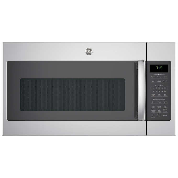 GE 1.9 CuFt Over-the-Range Sensor Microwave Oven in Stainless Steel