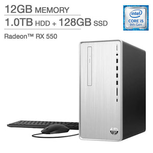 HP Pavilion Desktop - 9th Gen Intel Core i5-9400 - AMD Radeon RX 550