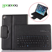 Load image into Gallery viewer, Keyboard Case For iPad 2017 9.7 2018 / Air / Air 2 Case PU Leather Magnetic Cover for iPad 2018 9.7 Case with Bluetooth Keyboard