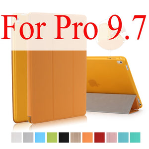 For iPad Pro 9.7 Case,for Apple iPad Mini 1 2 3 Slim PU leather Smart Cover with TPU Silicone Soft Back Shell for iPad Pro Coque