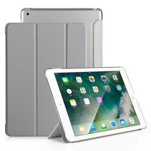 Case for iPad Mini 2 Mini 3 Mini 1 Case PU Leather Ultra Slim+Translucent PC Hard Back Smart Cover for Apple iPad Mini Case