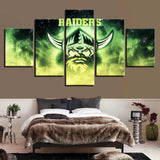 5 Panel Canberra Raiders Modern Décor Canvas Wall Art HD Print.