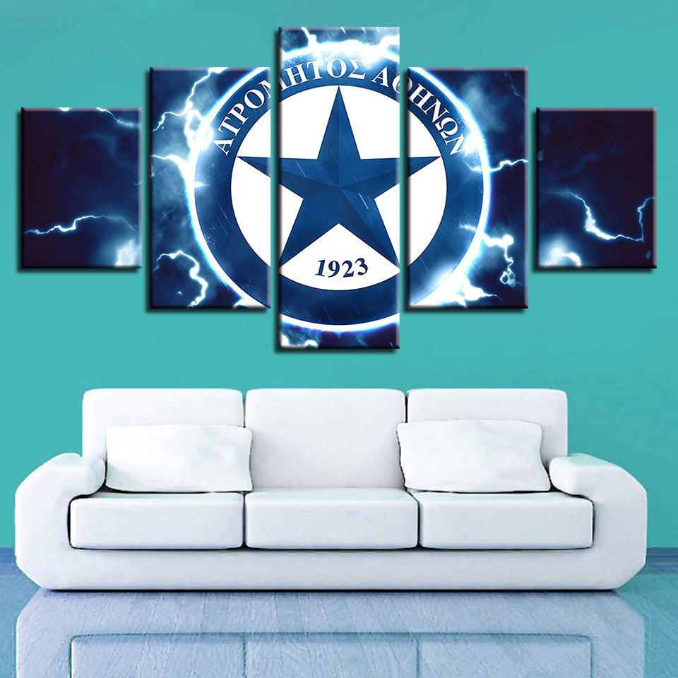 5 Panel APS Atromitos Athens Décor Canvas Wall Art HD Print.