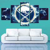 5 Panel Buffalo Sabres Décor Canvas Wall Art HD Print.
