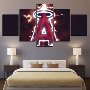 5 Panel Los Angeles Angels Modern Décor Canvas Wall Art HD Print.