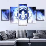 5 Panel SV Darmstadt 98 Modern Décor Canvas Wall Art HD Print.