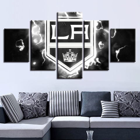 5 Panel Los Angeles Kings Décor Canvas Wall Art HD Print.