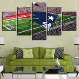 5 Panel New England Patriots Stadium Modern Décor Canvas Wall Art HD Print.