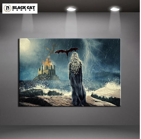 Game of Thrones Daenerys Targaryen Modern Décor Wall Art Canvas HD Print