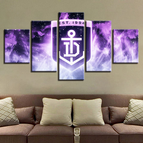 5 Panel Fremantle Décor Canvas Wall Art HD Print.