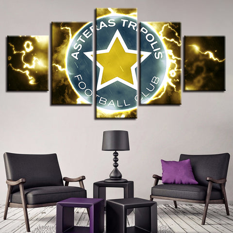 5 Panel Asteras Tripolis FC Décor Canvas Wall Art HD Print