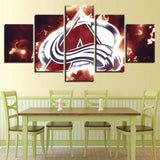 5 Panel Colorado Avalanche Modern Décor Canvas Wall Art HD Print.