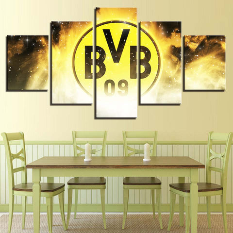 5 Panel Borussia Dortmund Modern Décor Canvas Wall Art HD Print.