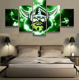 5 Panel Canberra Raiders Modern Decor Canvas Wall Art HD Print