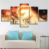5 Panel Greater Western Sydney Modern Décor Canvas Wall Art HD Print.
