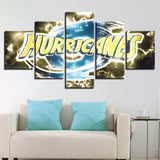 5 Panel New Zealand Hurricanes Modern Decor Canvas Wall Art HD Print.