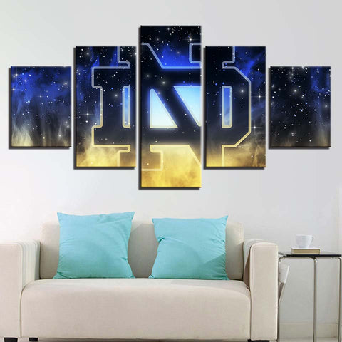 5 Panel Notre Dame Modern Décor Canvas Wall Art HD Print.