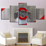 5 Panel Ohio State Modern Décor Canvas Wall Art HD Print.