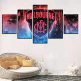 5 Panel Melbourne Décor Canvas Wall Art HD Print.